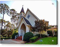 Acrylic Print featuring the photograph St. James V2 Fairhope Al by Michael Thomas