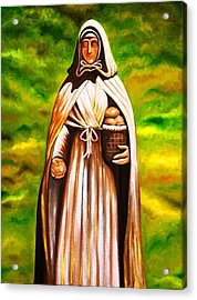 St Jeanne Jugan Of France Acrylic Print by Xafira Mendonsa