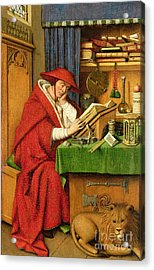 St. Jerome In His Study  Acrylic Print by Jan van Eyck