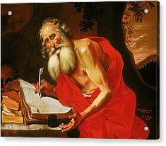 St. Jerome In The Wilderness Acrylic Print by Rebecca Poole