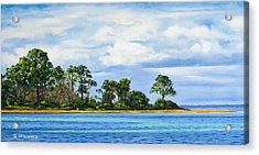Acrylic Print featuring the painting St. Joe by Rick McKinney