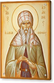 St John Of Damascus Acrylic Print by Julia Bridget Hayes