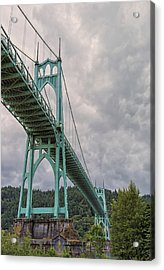 St. Johns Bridge Acrylic Print by Loree Johnson