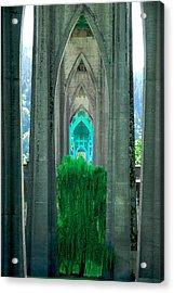St John's Bridge Portland Acrylic Print