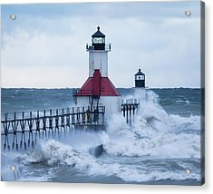St. Joseph Lighthouse With Waves Acrylic Print
