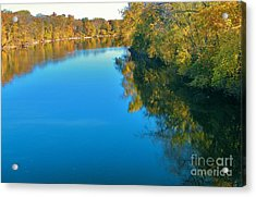 St. Joseph River View In Autumn     Indiana Acrylic Print