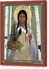 St. Kateri Tekakwitha Of The Iroquois - Rlktk Acrylic Print