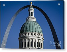 St. Louis Arch Acrylic Print by Andrea Silies