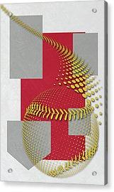 St Louis Cardinals Art Acrylic Print by Joe Hamilton