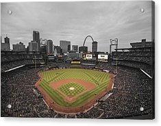 St. Louis Cardinals Busch Stadium Creative 17 Acrylic Print by David Haskett
