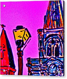 St. Louis Cathedral Abstract Acrylic Print by John Giardina
