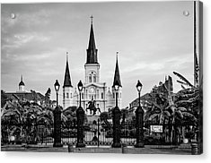 St. Louis Cathedral In Black And White Acrylic Print