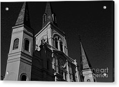St. Louis Cathedral In Black And White Acrylic Print by John Giardina
