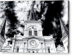 St. Louis Cathedral View Acrylic Print by John Rizzuto