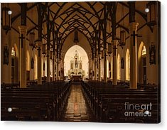 St. Louis Catholic Church Of Castroville Texas Acrylic Print