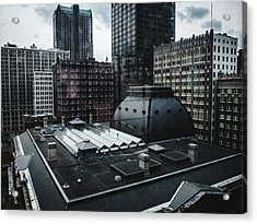 St. Louis Cityscape Through Window Acrylic Print by Dylan Murphy