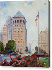 St. Louis Civil Court Building And Market Street Acrylic Print