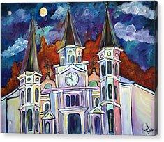 St. Louis Glowing Acrylic Print by Angel Turner Dyke