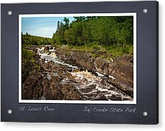 Acrylic Print featuring the photograph St Louis River Poster 2 by Heidi Hermes