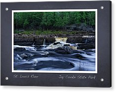 Acrylic Print featuring the photograph St Louis River Scrapbook Page 1 by Heidi Hermes