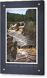 Acrylic Print featuring the photograph St Louis River Scrapbook Page 3 by Heidi Hermes