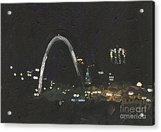 St. Louis Riverfront 1 Acrylic Print by Helena M Langley