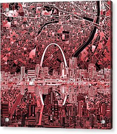 St Louis Skyline Abstract 3 Acrylic Print