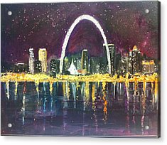 St. Louis Skyline Acrylic Print by Made by Marley