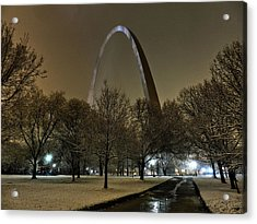 St. Louis - Winter At The Arch 002 Acrylic Print by Lance Vaughn
