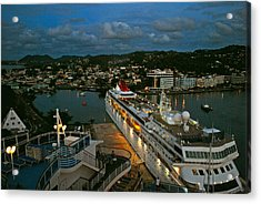 St. Lucia In The Evening Acrylic Print