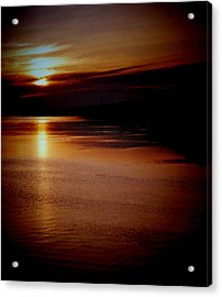 St Lucia Sunset Acrylic Print by Russ Mullen