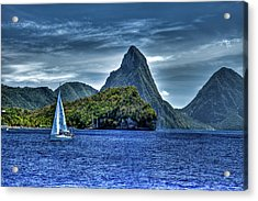 St Lucia View Of Pitons  Acrylic Print