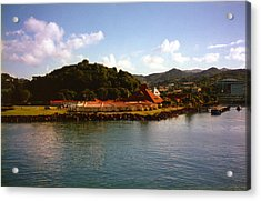 St Lucia Welcome Center Acrylic Print by Russ Mullen
