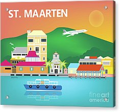 St. Maarten Horizontal Scene Acrylic Print