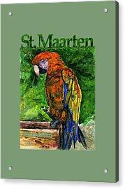 St. Maarten Shirt Acrylic Print