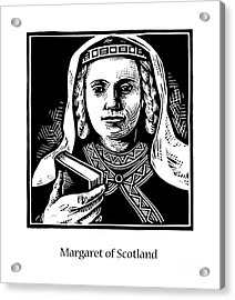 St. Margaret Of Scotland - Jlqms Acrylic Print