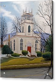 St. Marks  Acrylic Print by John Clum