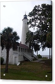 St. Marks Lighthouse Before The Rain Acrylic Print by Warren Thompson