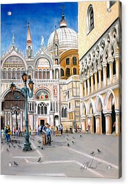 St. Marks Square Acrylic Print by Leah Wiedemer