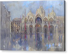 St Mark's -venice Acrylic Print by Peter Miller