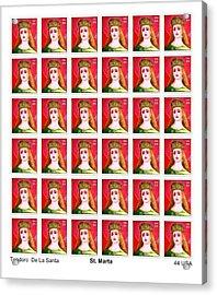 St Marta 36 Postage Stamps Acrylic Print by Teodoro De La Santa