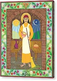 St. Martha Icon Acrylic Print by David Raber
