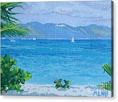 St Martin From Anguilla Acrylic Print by Margaret Brooks