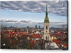 St Martin's Cathedral And Bratislava Acrylic Print