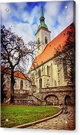 St Martins Cathedral Bratislava Acrylic Print