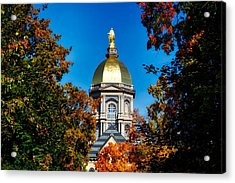 St Mary Atop The Golden Dome Of Notre Dame Acrylic Print by Mountain Dreams