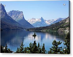 St Mary Lake - Glacier National Park Mt Acrylic Print