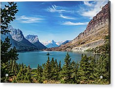 Acrylic Print featuring the photograph St. Mary Lake, Glacier N.p. by Lon Dittrick