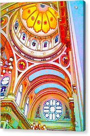 St. Mary Of The Angels 1 Acrylic Print by Dave Luebbert