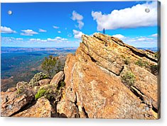 Acrylic Print featuring the photograph St Mary Peak by Bill  Robinson